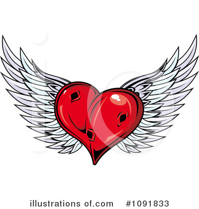 Winged Heart Clipart #1091833 by Vector Tradition SM