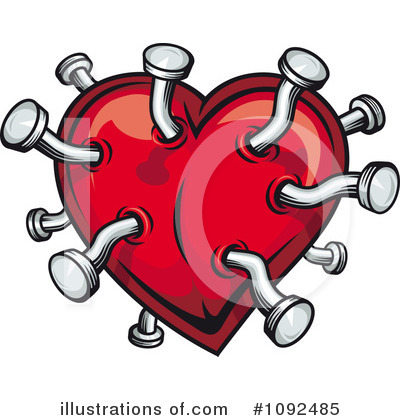 Broken Heart Clipart #1092485 by Vector Tradition SM