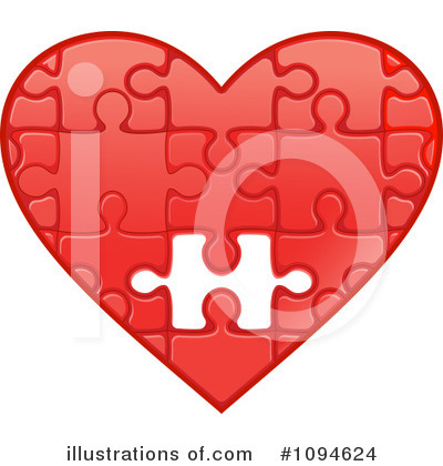 Broken Heart Clipart #1094624 by Vector Tradition SM
