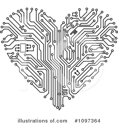 Circuits Clipart #1097364 by Vector Tradition SM