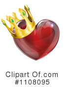 Royalty-Free (RF) Heart Clipart Illustration #1108095
