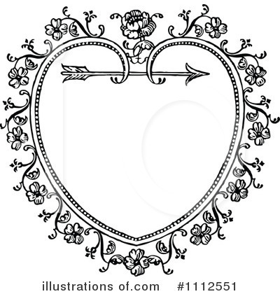 Royalty-Free (RF) Heart Clipart Illustration by Prawny Vintage - Stock Sample #1112551