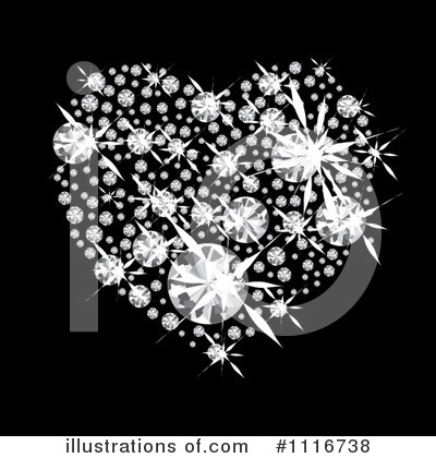 Diamond Heart Clipart #1116738 by michaeltravers