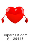 Royalty-Free (RF) heart Clipart Illustration #1129448