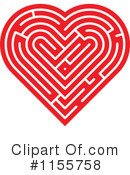 Royalty-Free (RF) Heart Clipart Illustration #1155758