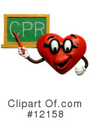 Royalty-Free (RF) Heart Clipart Illustration #12158