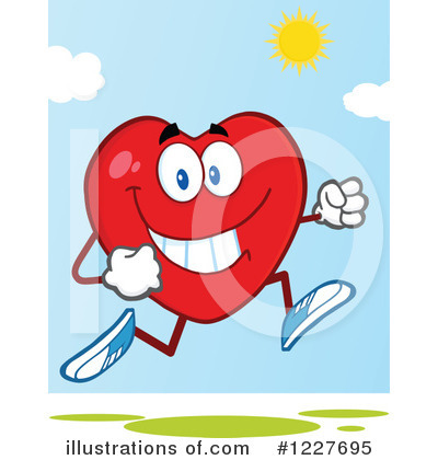 Heart Mascot Clipart #1227695 by Hit Toon