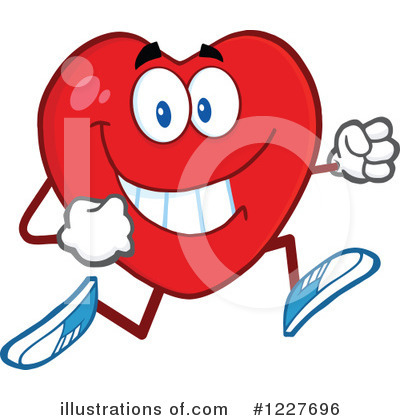 Heart Mascot Clipart #1227696 by Hit Toon