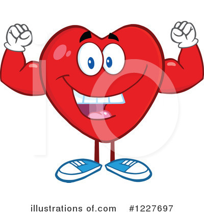 Heart Mascot Clipart #1227697 by Hit Toon