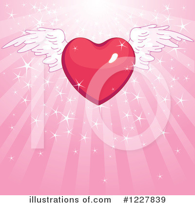 Winged Heart Clipart #1227839 by Pushkin