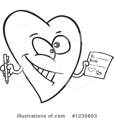 Heart Character Clipart #1230803 by toonaday