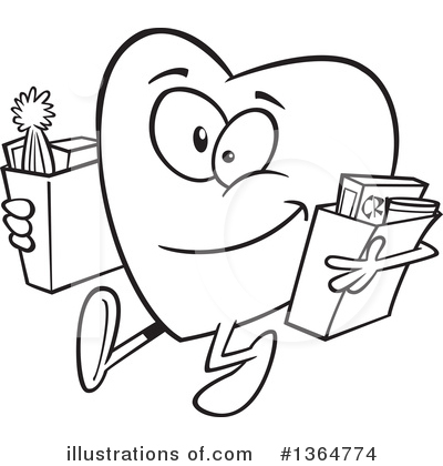 Heart Character Clipart #1364774 by toonaday