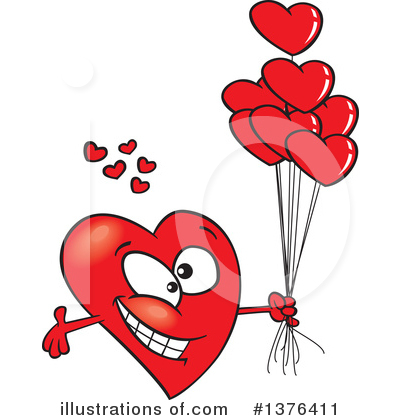 Heart Character Clipart #1376411 by toonaday
