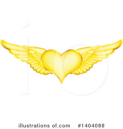 Winged Heart Clipart #1404088 by inkgraphics