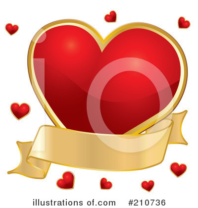 Royalty-Free (RF) Heart Clipart Illustration by MilsiArt - Stock Sample #210736
