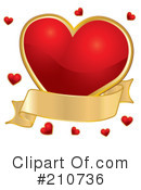 Royalty-Free (RF) heart Clipart Illustration #210736