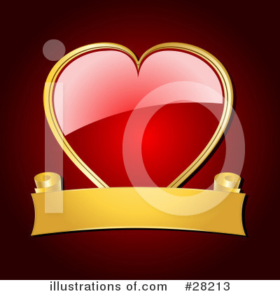 Royalty-Free (RF) Heart Clipart Illustration by Elaine Barker - Stock Sample #28213