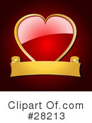 Royalty-Free (RF) heart Clipart Illustration #28213