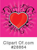 Royalty-Free (RF) heart Clipart Illustration #28864