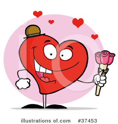 Royalty-Free (RF) Heart Clipart Illustration by Hit Toon - Stock Sample #37453
