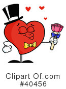 Royalty-Free (RF) heart Clipart Illustration #40456
