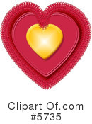 Royalty-Free (RF) heart Clipart Illustration #5735
