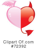Royalty-Free (RF) heart Clipart Illustration #72392