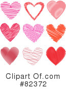 Royalty-Free (RF) heart Clipart Illustration #82372