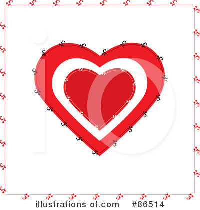 Royalty-Free (RF) Heart Clipart Illustration by Pams Clipart - Stock Sample #86514