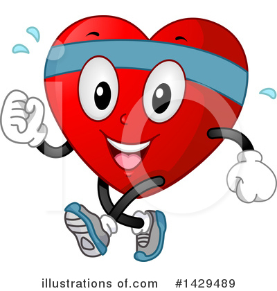 Heart Character Clipart #1429489 by BNP Design Studio