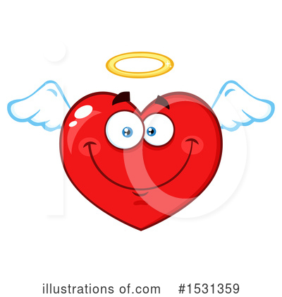 Heart Mascot Clipart #1531359 by Hit Toon