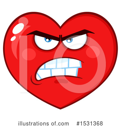 Heart Mascot Clipart #1531368 by Hit Toon