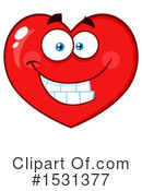Heart Mascot Clipart #1531377 by Hit Toon