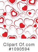 Royalty-Free (RF) Hearts Clipart Illustration #1090594