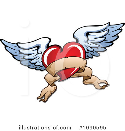 Winged Heart Clipart #1090595 by visekart