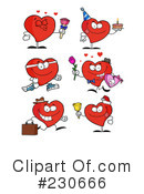 Royalty-Free (RF) hearts Clipart Illustration #230666
