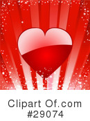 Royalty-Free (RF) Hearts Clipart Illustration #29074