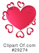 Royalty-Free (RF) Hearts Clipart Illustration #29274