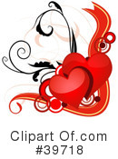 Royalty-Free (RF) Hearts Clipart Illustration #39718