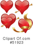 Royalty-Free (RF) Hearts Clipart Illustration #51923