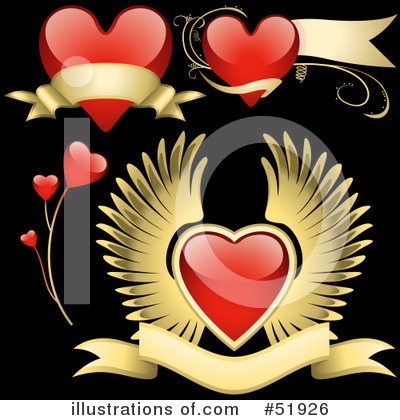 Royalty-Free (RF) Hearts Clipart Illustration by dero - Stock Sample #51926