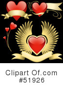 Royalty-Free (RF) hearts Clipart Illustration #51926