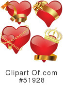 Royalty-Free (RF) Hearts Clipart Illustration #51928