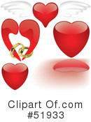Royalty-Free (RF) Hearts Clipart Illustration #51933