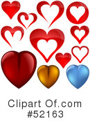 Hearts Clipart #52163 by dero
