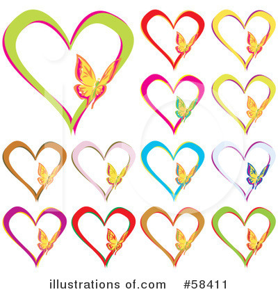 Royalty-Free (RF) Hearts Clipart Illustration by MilsiArt - Stock Sample #58411