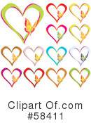 Royalty-Free (RF) Hearts Clipart Illustration #58411