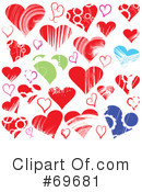 Hearts Clipart #69681 by MilsiArt