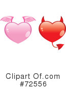 Royalty-Free (RF) hearts Clipart Illustration #72556