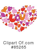 Royalty-Free (RF) Hearts Clipart Illustration #85265